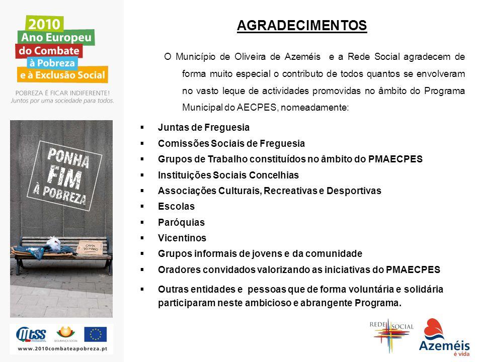 AGRADECIMENTOS O Município de Oliveira de Azeméis e a Rede Social agradecem de forma muito especial o contributo de todos quantos se envolveram no vas