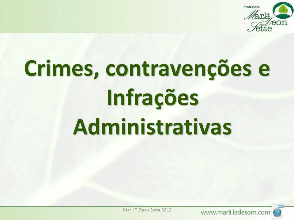 Marli T. Deon Sette 2012 Crimes, contravenções e Infrações Administrativas