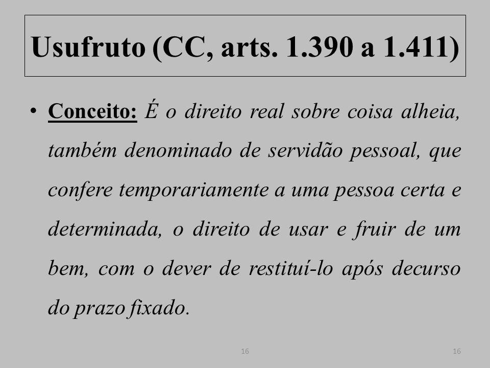 Usufruto (CC, arts.