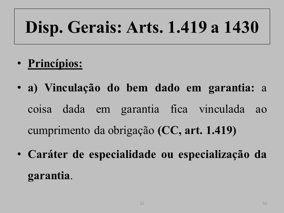 Disp.Gerais: Arts. 1.419 a 1430 Art. 1.419.