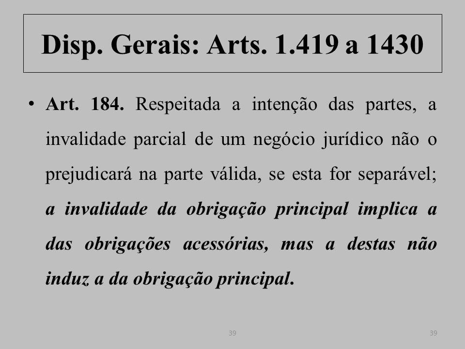 Disp.Gerais: Arts.