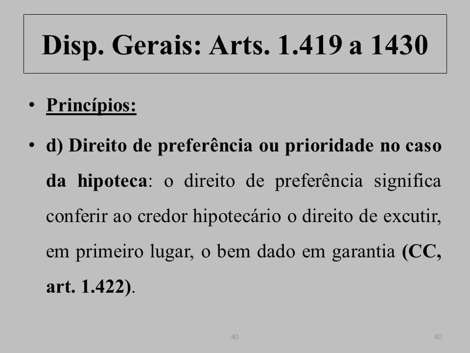 Disp.Gerais: Arts. 1.419 a 1430 Art. 1.422.