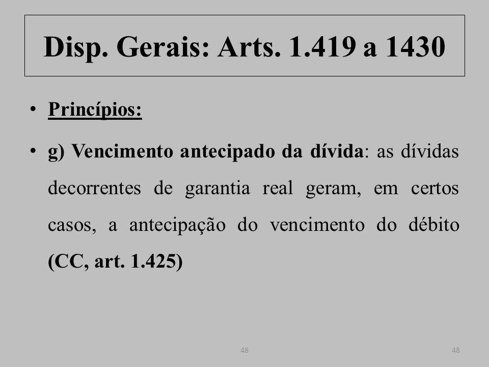 Disp.Gerais: Arts. 1.419 a 1430 Art. 1.425.