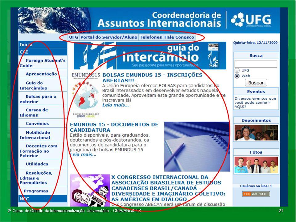 2º Curso de Gestão da Internacionalização Universitária - CRIA/ANDIFES21