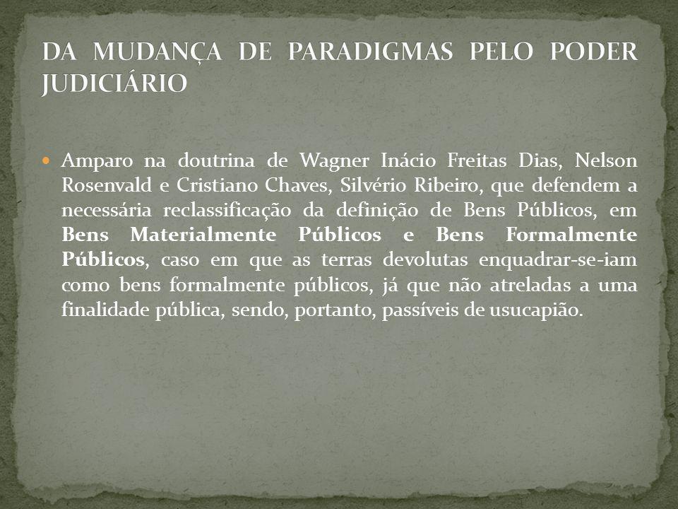 Amparo na doutrina de Wagner Inácio Freitas Dias, Nelson Rosenvald e Cristiano Chaves, Silvério Ribeiro, que defendem a necessária reclassificação da