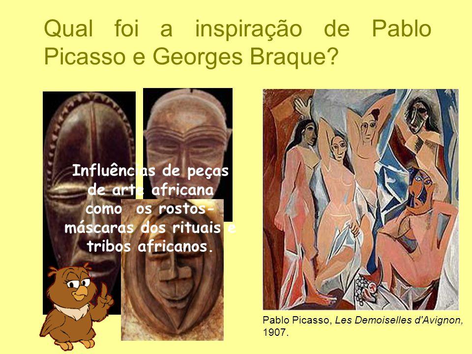 Qual foi a inspiração de Pablo Picasso e Georges Braque? Influências de peças de arte africana como os rostos- máscaras dos rituais e tribos africanos