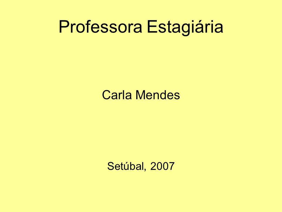 Professora Estagiária Carla Mendes Setúbal, 2007