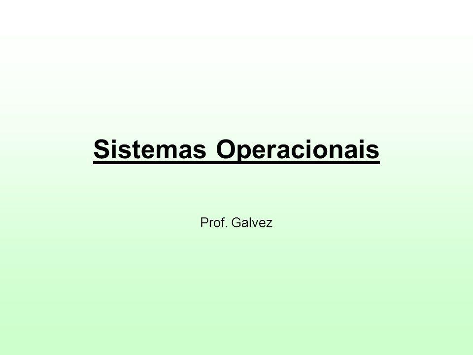 Sistemas Operacionais Prof. Galvez