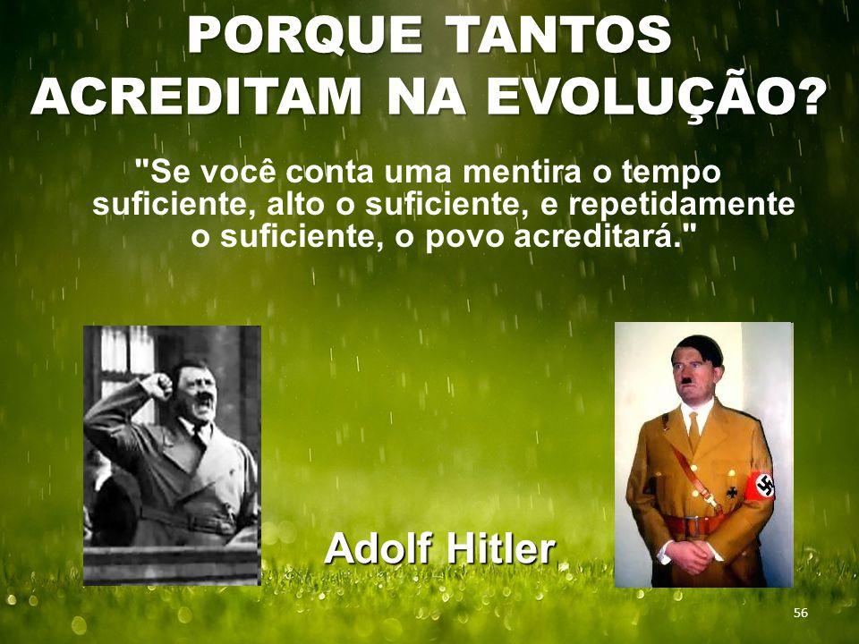 PORQUE TANTOS ACREDITAM NA EVOLUÇÃO.
