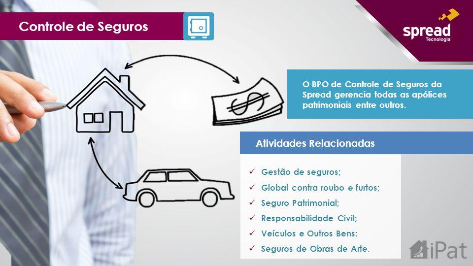 Atividades Relacionadas Gestão de seguros; Global contra roubo e furtos; Seguro Patrimonial; Responsabilidade Civil; Veículos e Outros Bens; Seguros d