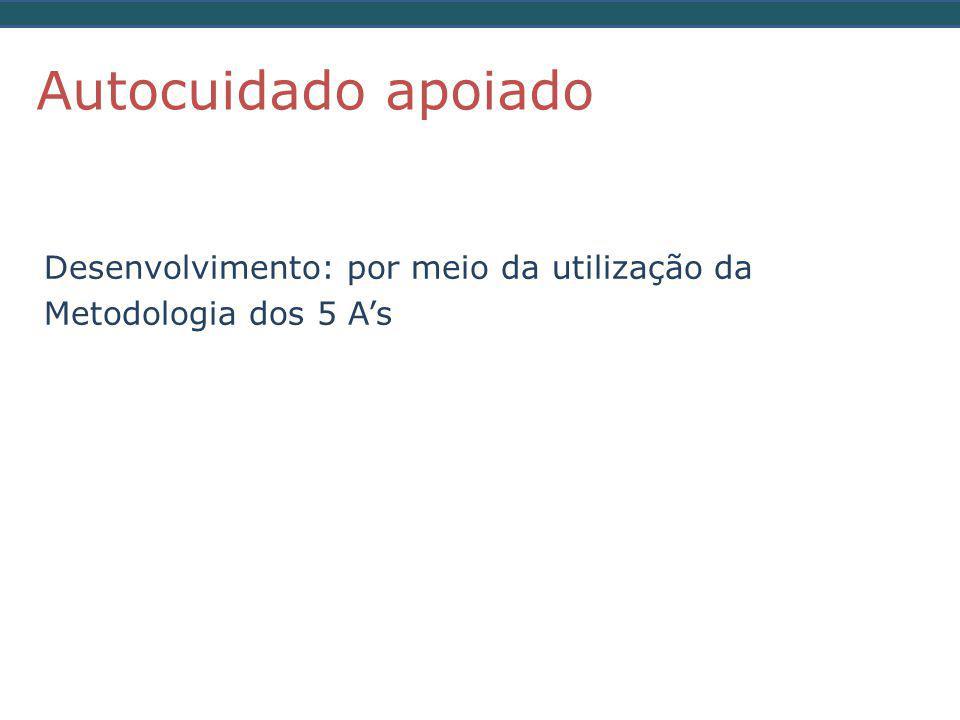 Desenvolvimento: por meio da utilização da Metodologia dos 5 A's Autocuidado apoiado