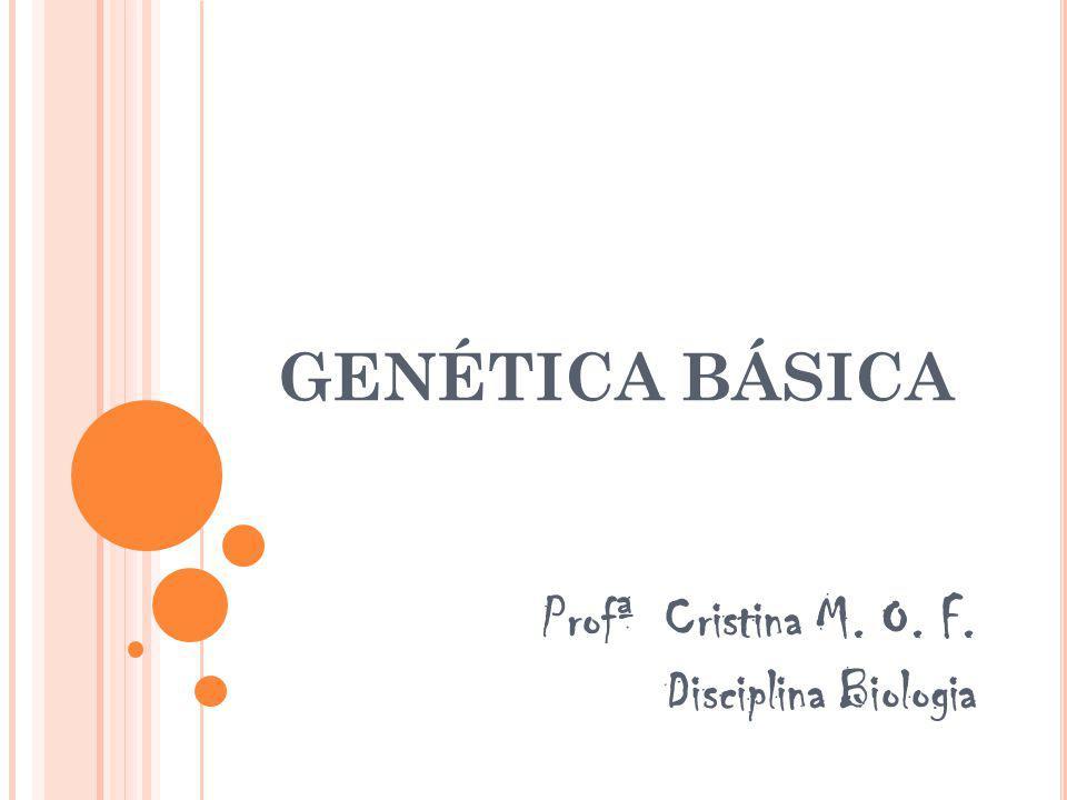 GENÉTICA BÁSICA Profª Cristina M. O. F. Disciplina Biologia