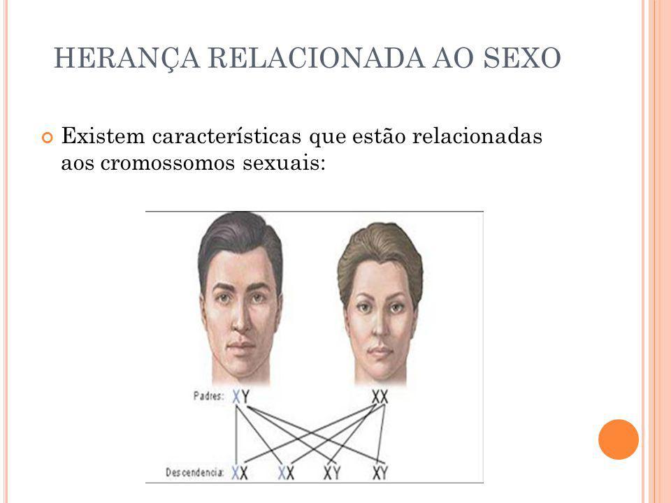 HERANÇA RELACIONADA AO SEXO Existem características que estão relacionadas aos cromossomos sexuais: