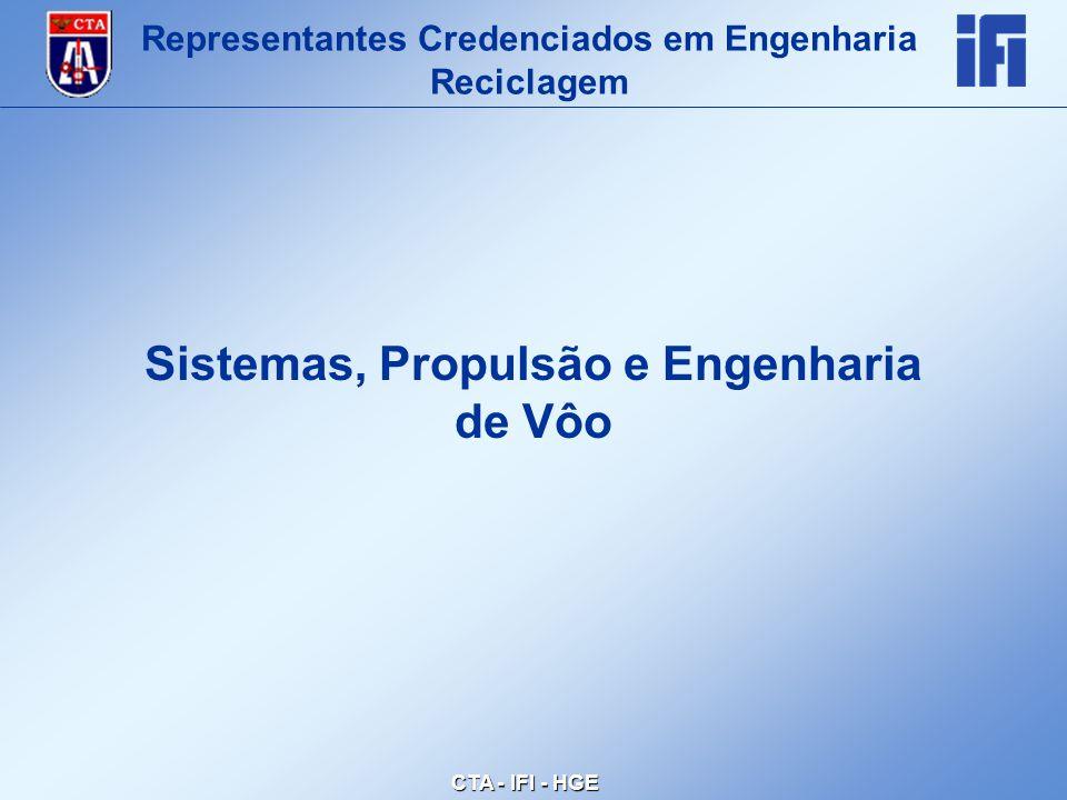 CTA - IFI - HGE Sistemas, Propulsão e Engenharia de Vôo Representantes Credenciados em Engenharia Reciclagem