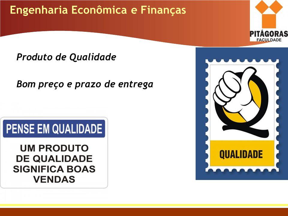 Engenharia Econômica e Finanças Produto de Qualidade Bom preço e prazo de entrega