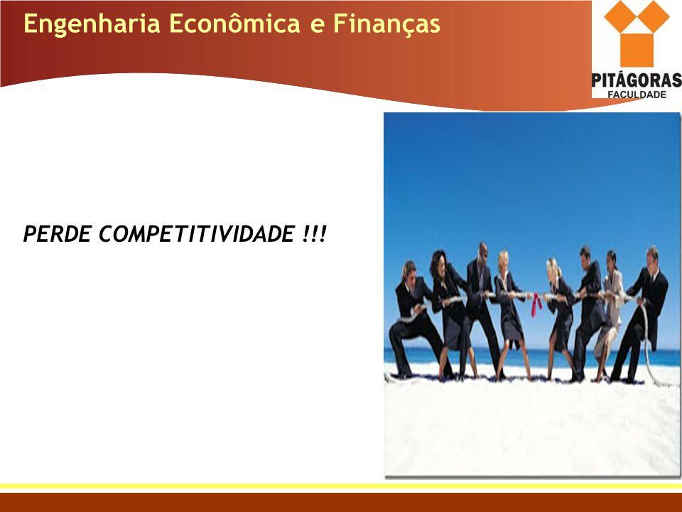 Engenharia Econômica e Finanças PERDE COMPETITIVIDADE !!!