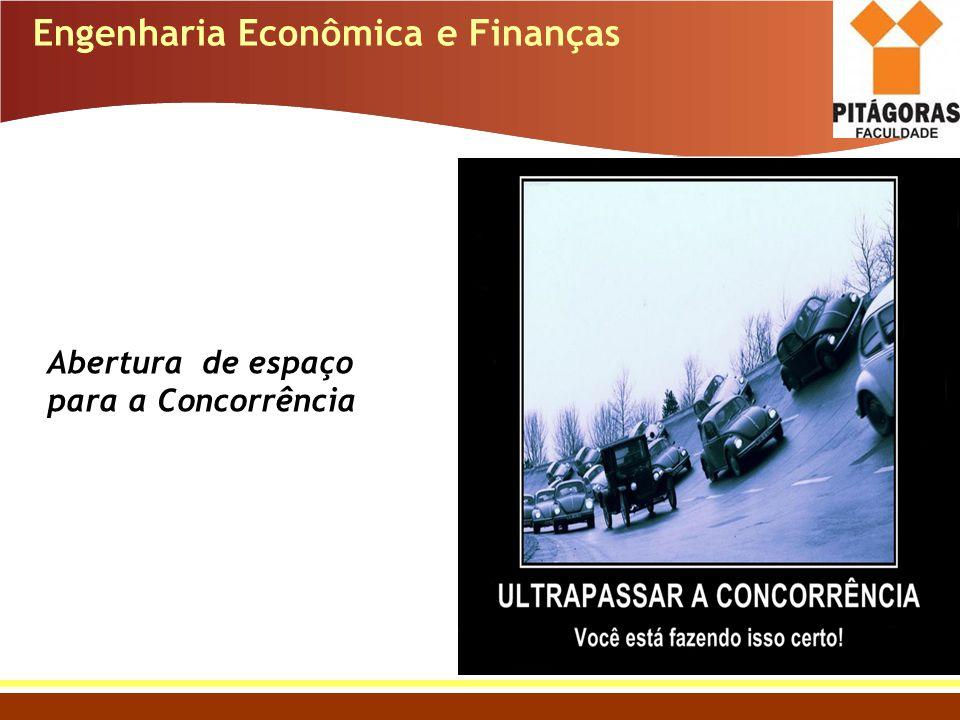 Engenharia Econômica e Finanças Abertura de espaço para a Concorrência