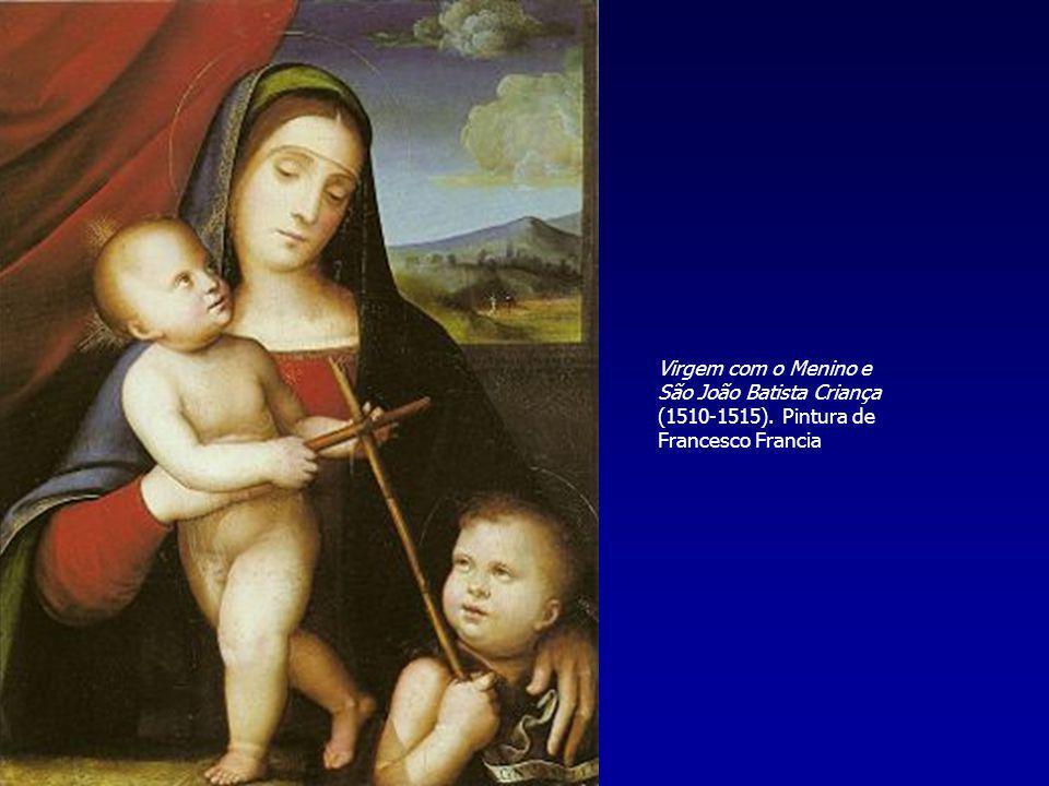 Virgem com o Menino e São João Batista Criança (1510-1515). Pintura de Francesco Francia