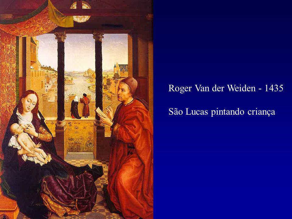 Roger Van der Weiden - 1435 São Lucas pintando criança