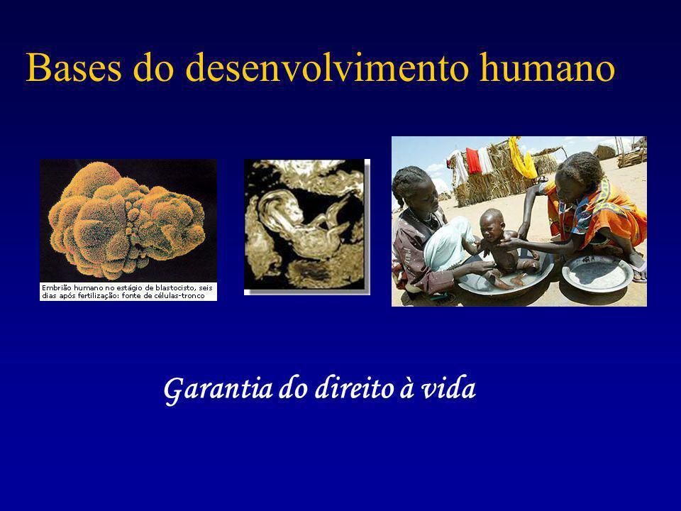 Bases do desenvolvimento humano Garantia do direito à vida