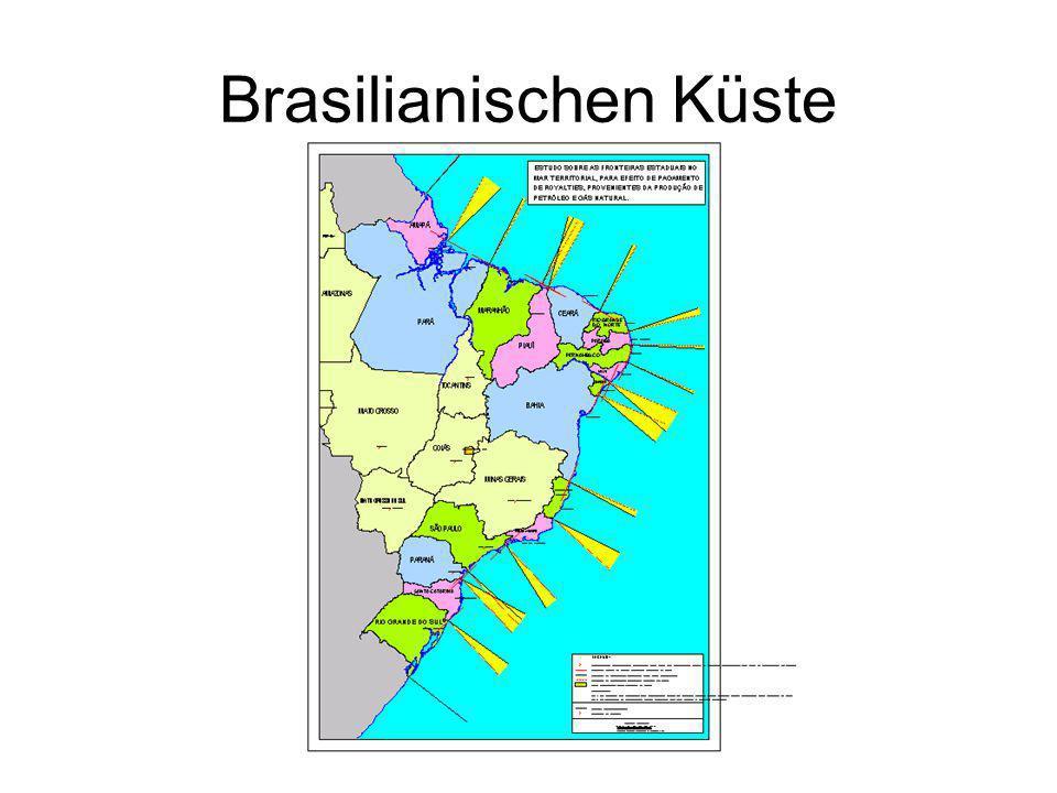 Brasilianischen Küste