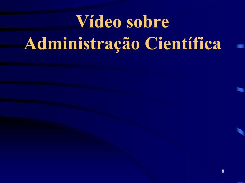 8 Vídeo sobre Administração Científica