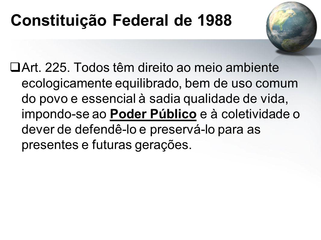 Constituição Federal de 1988  Art.225.