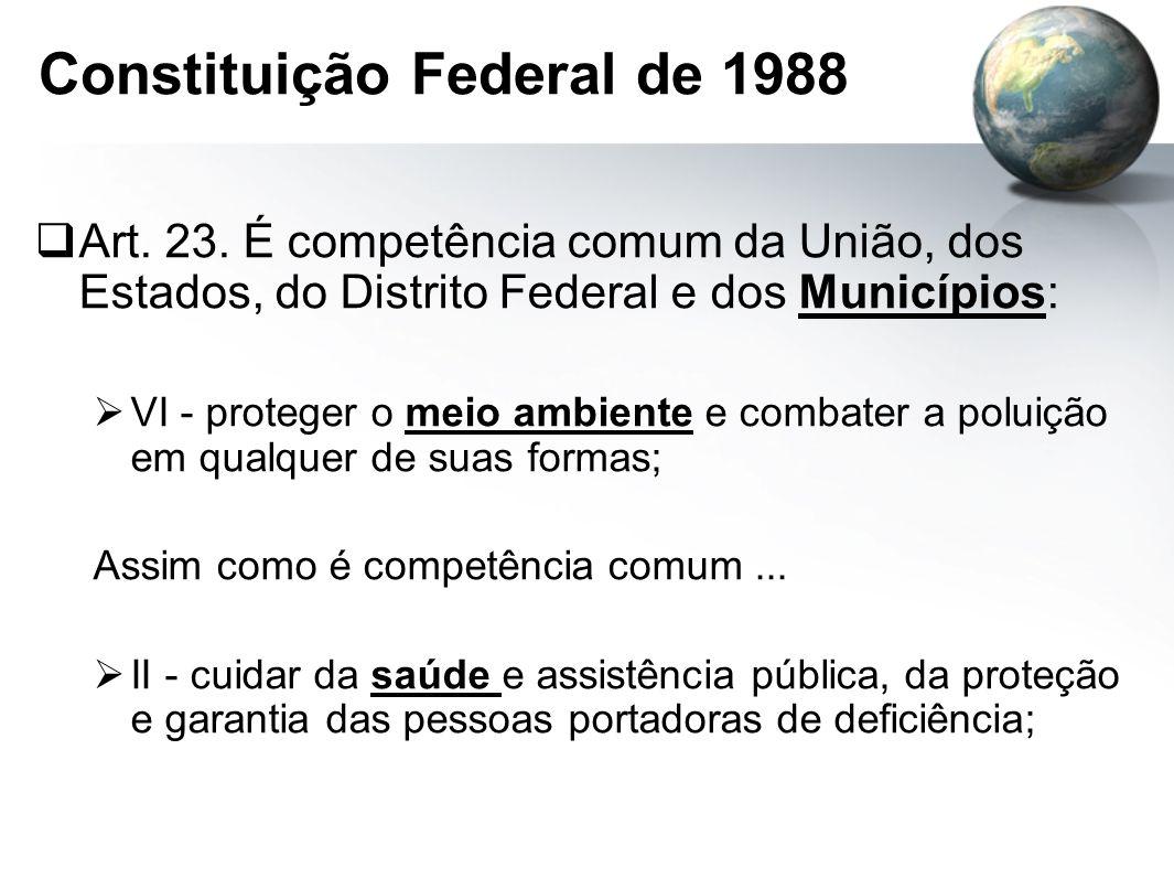 Constituição Federal de 1988  Art.23.