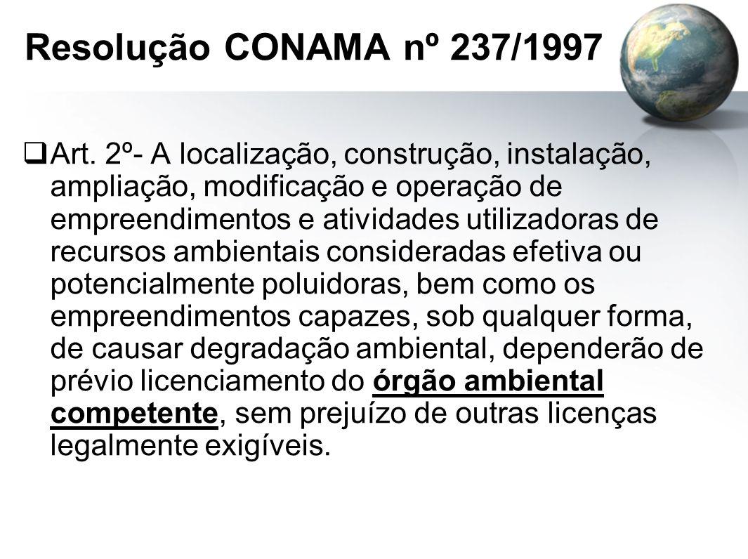 Resolução CONAMA nº 237/1997  Art.