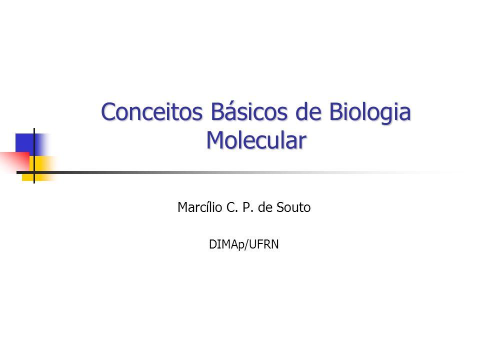Conceitos Básicos de Biologia Molecular Marcílio C. P. de Souto DIMAp/UFRN