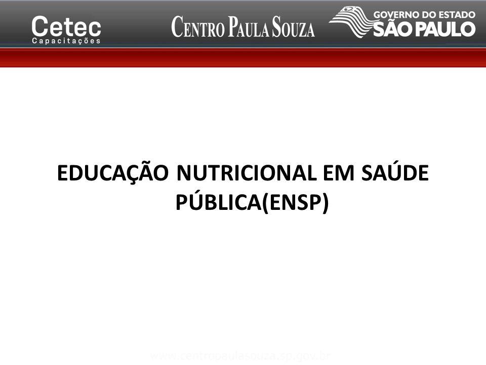 EDUCAÇÃO NUTRICIONAL EM SAÚDE PÚBLICA(ENSP)