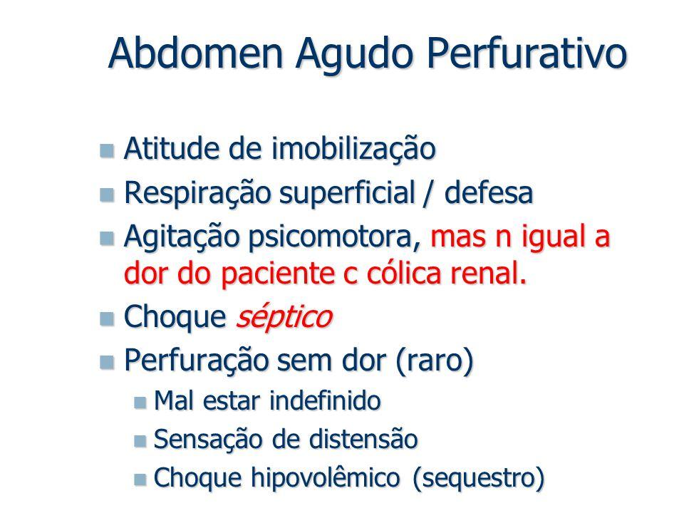 Atitude de imobilização Atitude de imobilização Respiração superficial / defesa Respiração superficial / defesa Agitação psicomotora, mas n igual a do