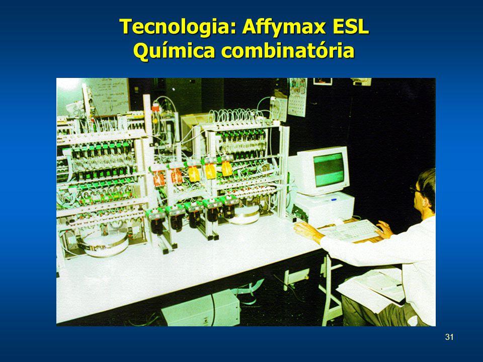 31 Tecnologia: Affymax ESL Química combinatória