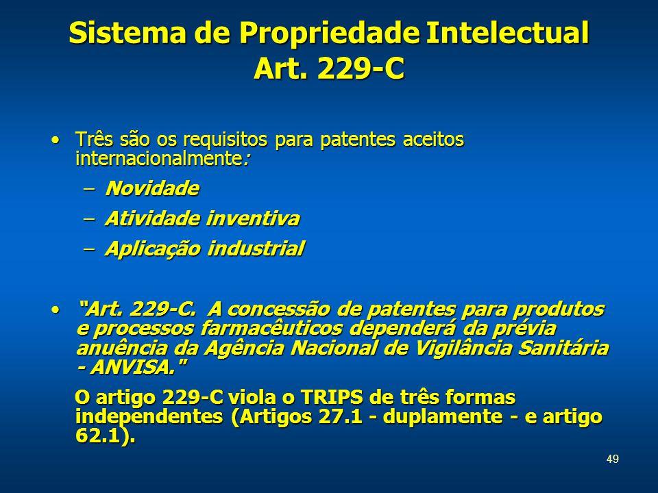 49 Sistema de Propriedade Intelectual Art.