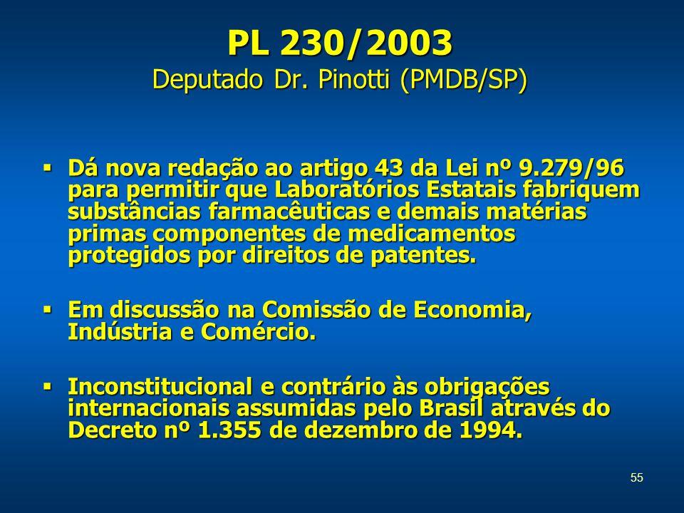 55 PL 230/2003 Deputado Dr.