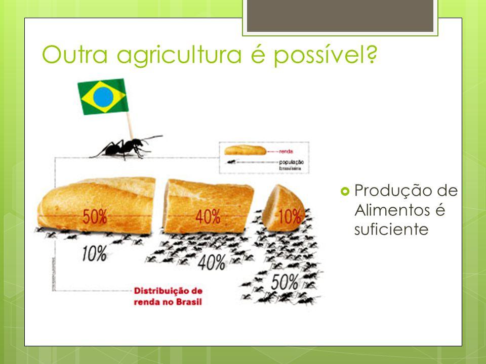 Outra agricultura é possível?  Produção de Alimentos é suficiente
