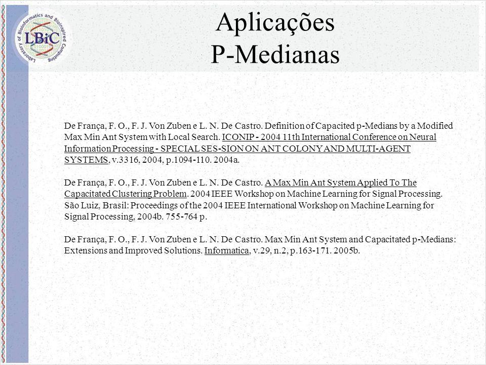 Aplicações P-Medianas De França, F. O., F. J. Von Zuben e L.