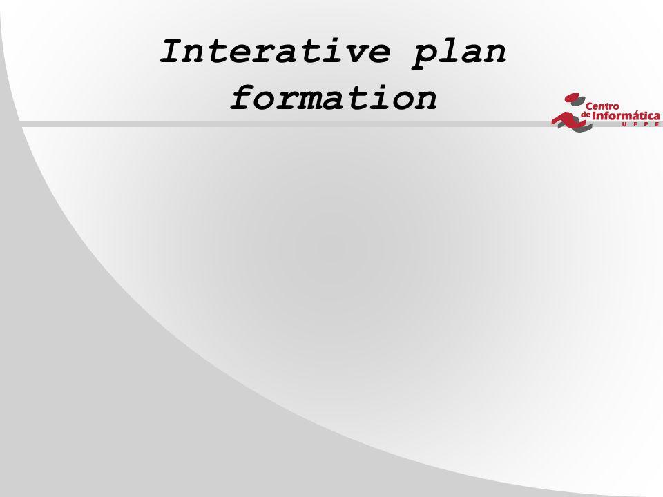 Interative plan formation