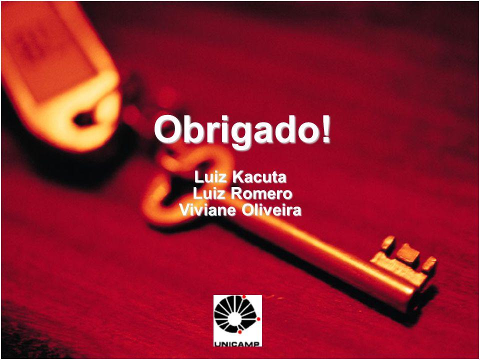 Obrigado! Luiz Kacuta Luiz Romero Viviane Oliveira