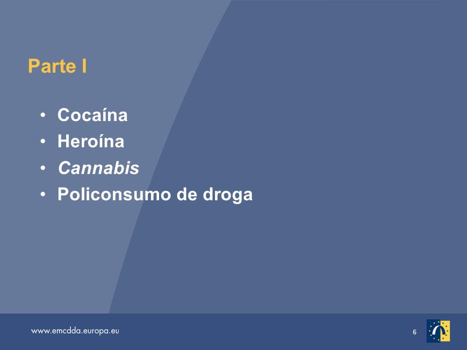 17 Diferentes padrões nas tendências da prevalência do consumo de cannabis ao longo da vida entre os adolescentes estudantes de 15- 16 anos 1 2 3
