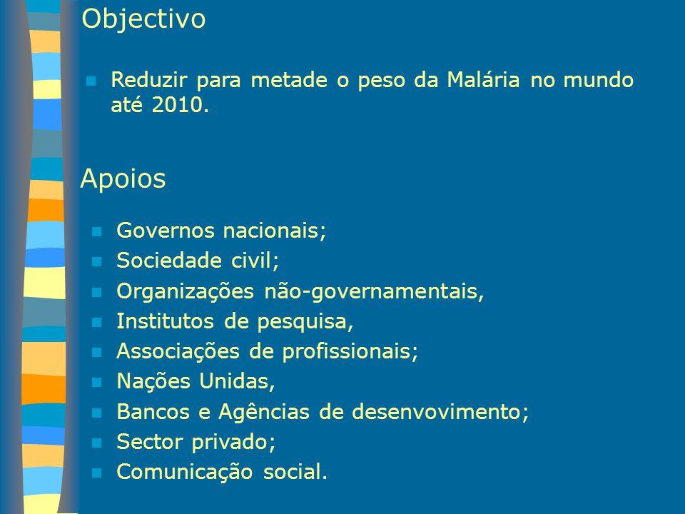 Apoios Governos nacionais; Sociedade civil; Organizações não-governamentais, Institutos de pesquisa, Associações de profissionais; Nações Unidas, Banc