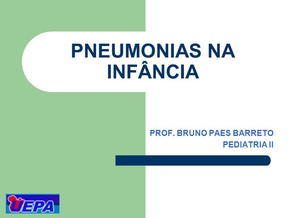 PNEUMONIAS NA INFÂNCIA PROF. BRUNO PAES BARRETO PEDIATRIA II