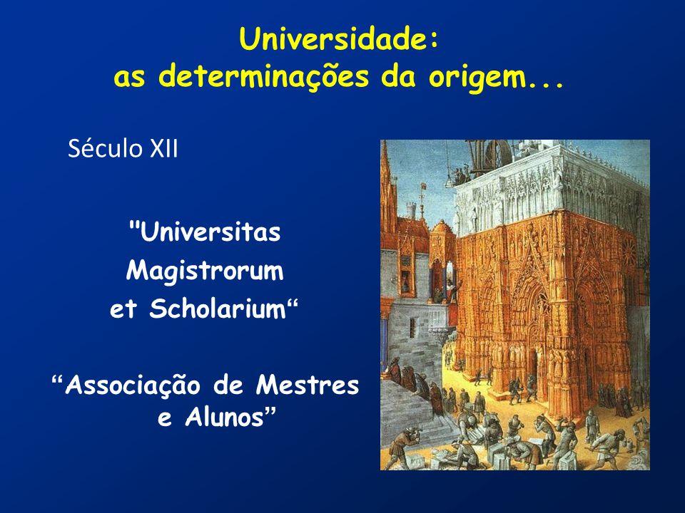 Universidade: as determinações da origem...