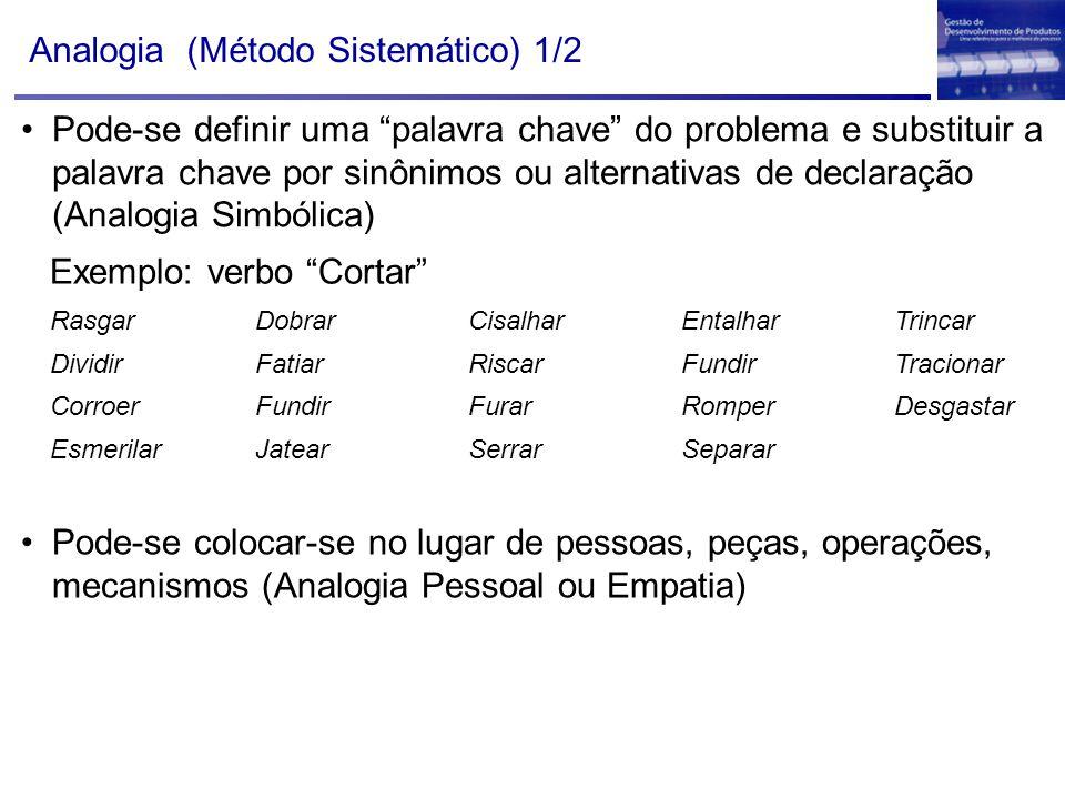 "Analogia (Método Sistemático) 1/2 Exemplo: verbo ""Cortar"" RasgarDobrarCisalharEntalharTrincar DividirFatiarRiscarFundirTracionar CorroerFundirFurarRom"