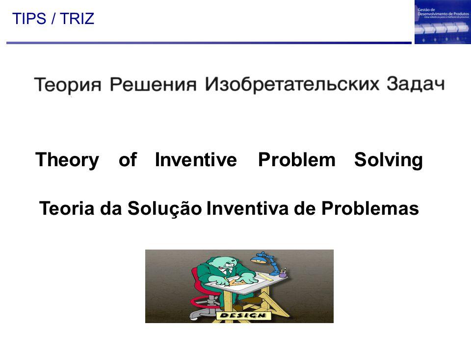 TIPS / TRIZ Theory of Inventive Problem Solving Teoria da Solução Inventiva de Problemas
