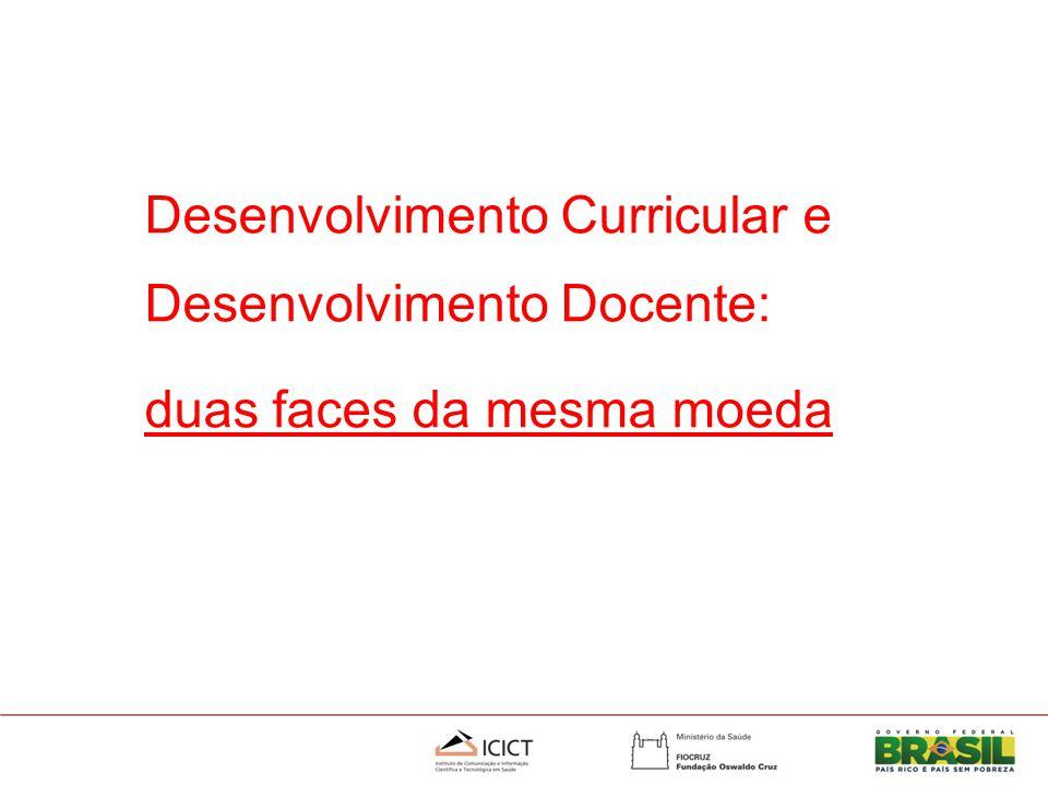 Desenvolvimento Curricular e Desenvolvimento Docente: duas faces da mesma moeda