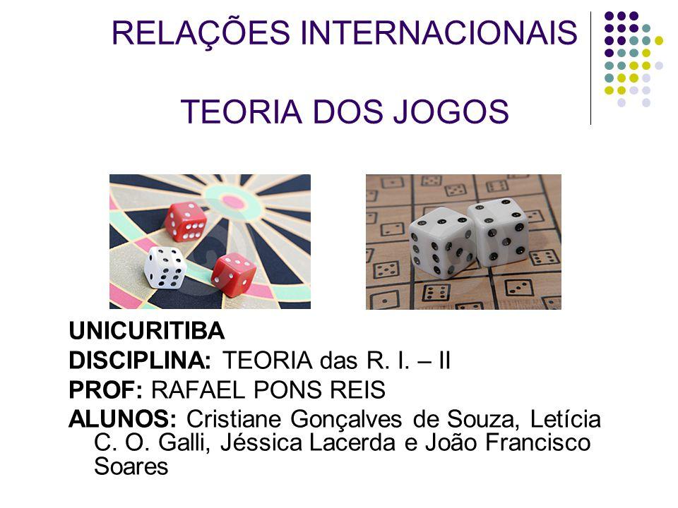 RELAÇÕES INTERNACIONAIS TEORIA DOS JOGOS UNICURITIBA DISCIPLINA: TEORIA das R.