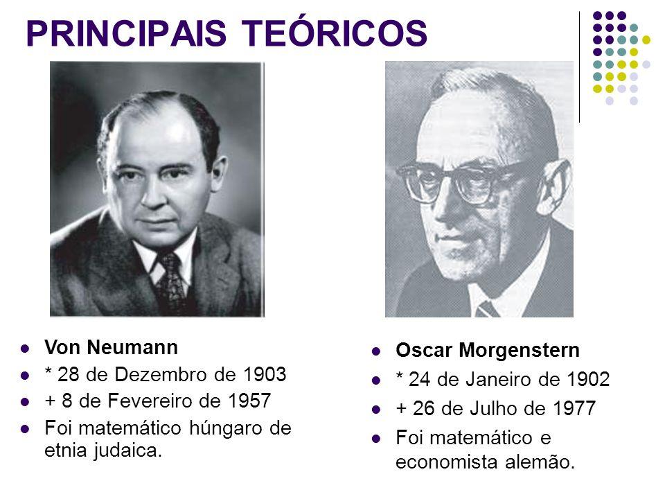 PRINCIPAIS TEÓRICOS Von Neumann * 28 de Dezembro de 1903 + 8 de Fevereiro de 1957 Foi matemático húngaro de etnia judaica.