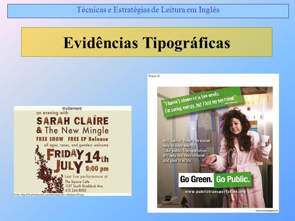 Evidências Tipográficas Técnicas e Estratégias de Leitura em Inglês