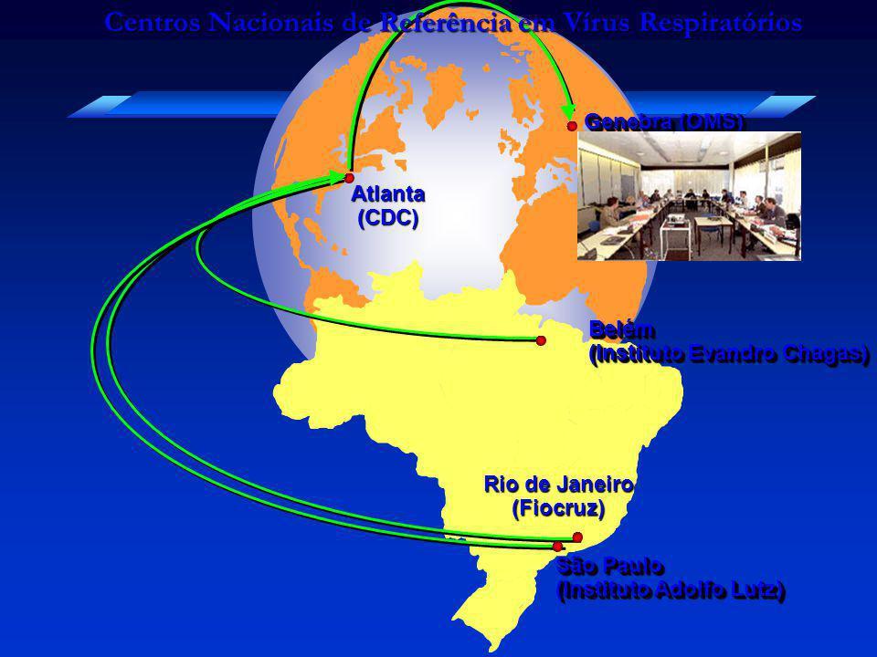 Rio de Janeiro (Fiocruz) São Paulo (Instituto Adolfo Lutz) São Paulo (Instituto Adolfo Lutz) Genebra (OMS) Atlanta(CDC) Belém (Instituto Evandro Chaga